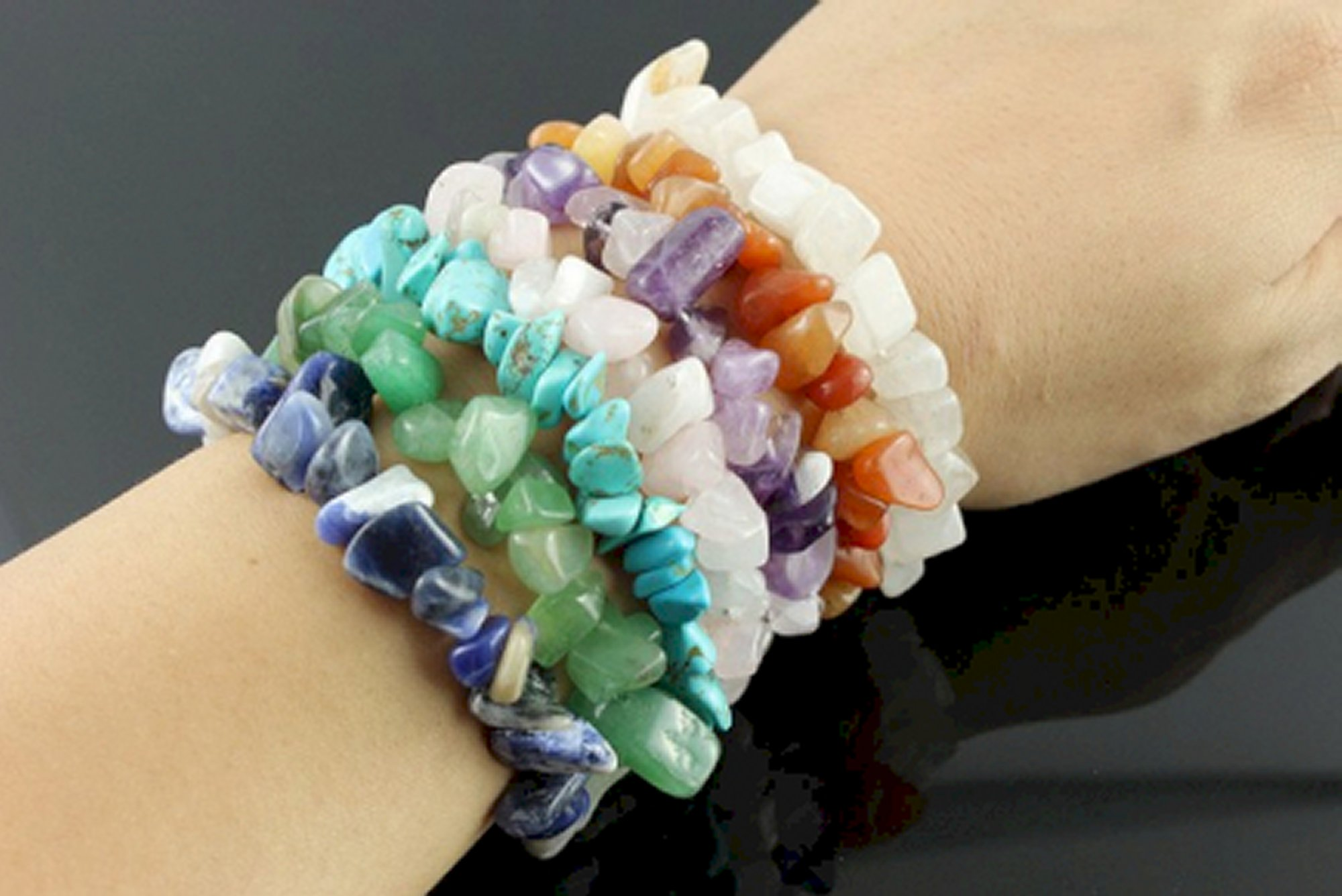 Chipstone bracelets (Gemstone chips)